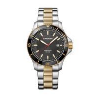 Relógio Masculino Wenger Seaforce Preto E Dourado