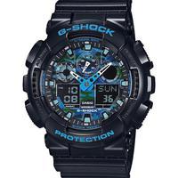 Relógio Masculino Shock Casio Preto/azul Camuflado Ga-100cb-1adr