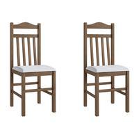 Conjunto 2 Cadeiras de  Madeira 300 Móveis Canção