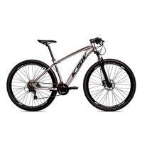 "Bicicleta Aro 29 Ksw 21 Vel Shimano Freios Disco E Trava/k7 Cor:grafite/pretotamanho Do Quadro:21"" - 21"""