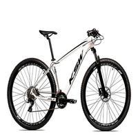 """Bicicleta Aro 29 Ksw 21 Marchas Freio Hidráulico E Suspensão Cor:branco/pretotamanho Do Quadro:15"""" - 15"""""""