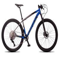 Bicicleta Aro 29 Dropp Z7x 12v Absolute, C/trava E Fr. Hidra - Cinza/azul - 17''