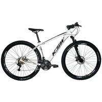 "Bicicleta Aro 29 Ksw 21 Marchas Shimano, Freios A Disco E K7 Cor: branco/preto tamanho Do Quadro: 17"""