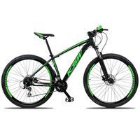 """Bicicleta Aro 29 Ksw 27 Marchas Freio Hidráulico E K7 Cor: preto/verde tamanho Do Quadro:19"""" - 19"""""""
