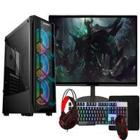 Pc Gamer Completo Fácil, Intel I3 10100f, 16gb, Gtx 1650 4gb, Ssd 240gb, Monitor 21,5 pol, Fonte 500w