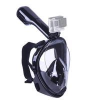 Máscara Mergulho Livre Snorkeling Full Face Para Gopro Tamanho L/xl - Cor: Preta