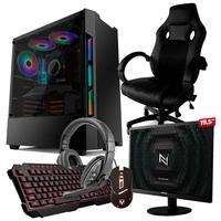 Pc Gamer Completo Start Nli82931 Amd 320ge 16gb (vega 3 Integrado) Ssd 240gb e Cadeira Gamer