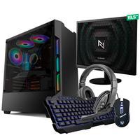 Kit - Pc Gamer Start Nli82883 Amd 320ge 16gb vega 3 Integrado Ssd 240gb + Monitor 19.5
