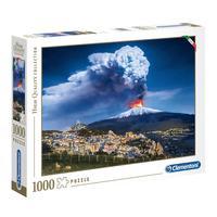 Puzzle 1000 Peças Vulcão Etna - Clementoni - Importado