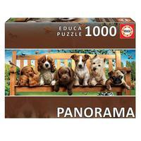 Puzzle 1000 Peças Panorama Filhotes No Parque - Educa