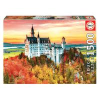 Puzzle 1500 Peças Outono Em Neuschwanstein Educa